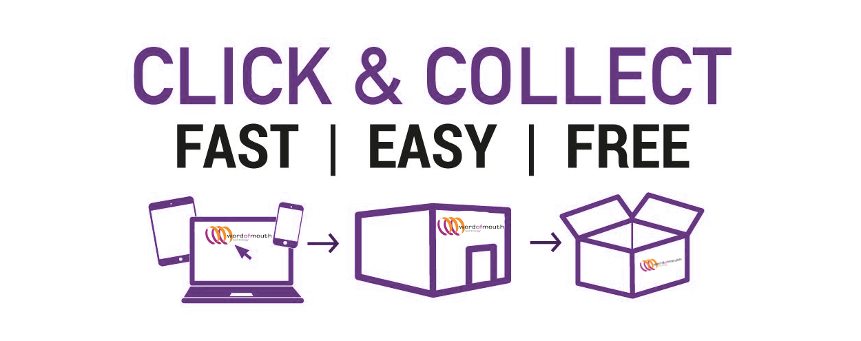 Click and collect - Now Available from wom.com.au