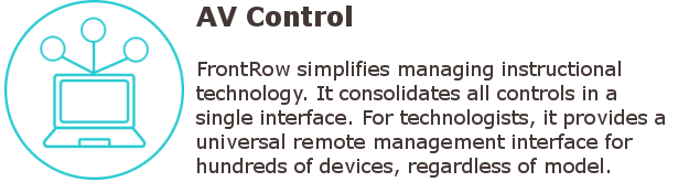 Interactive Classrooms - FrontRow AV control systems